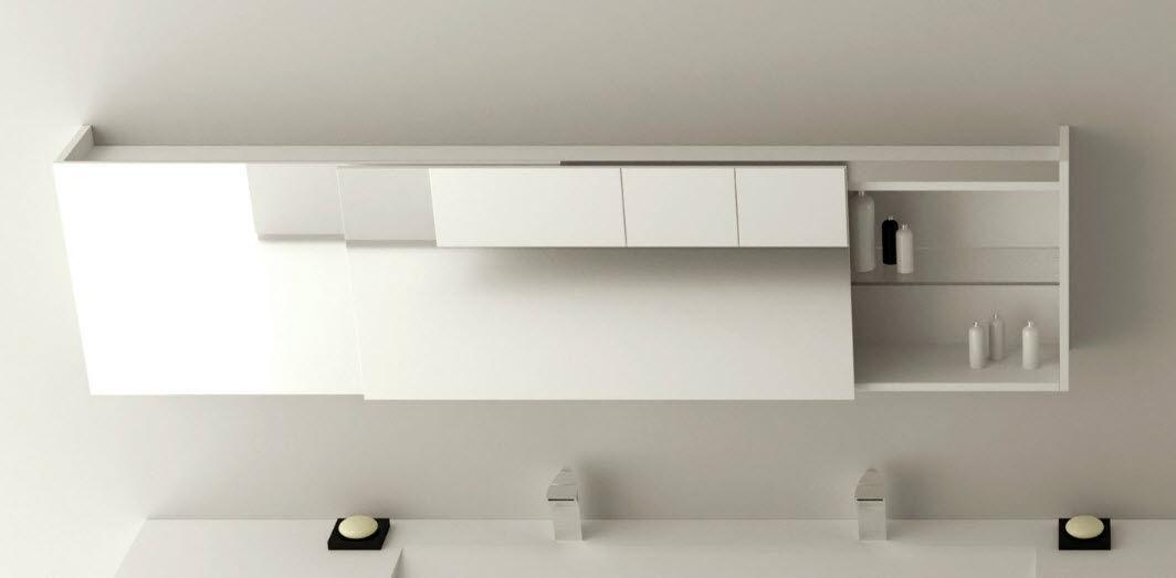 Specchio a muro / moderno / rettangolare / con contenitore   mirr ...