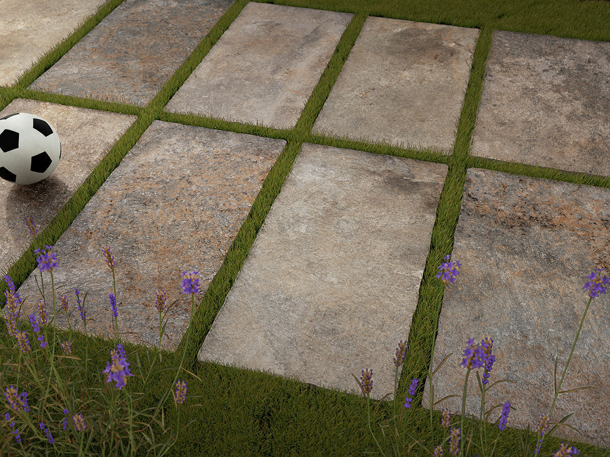 Piastrella da esterno da pavimento in gres porcellanato x
