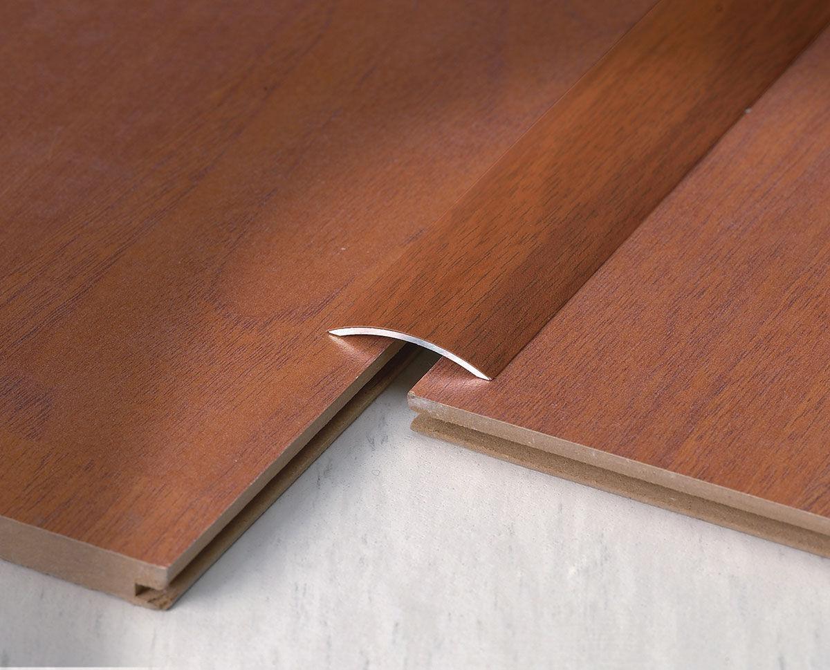 Profilo di raccordo in alluminio in ottone in acciaio inox