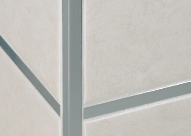 Profilo di finitura in acciaio inox per piastrelle per angolo