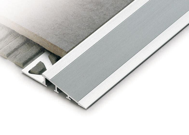 Profilo di finitura in alluminio per piastrelle ramptec zrr