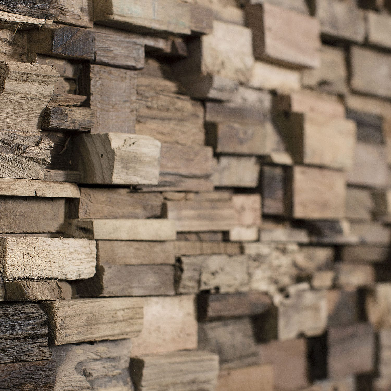 Pannello decorativo in legno in legno massiccio da parete