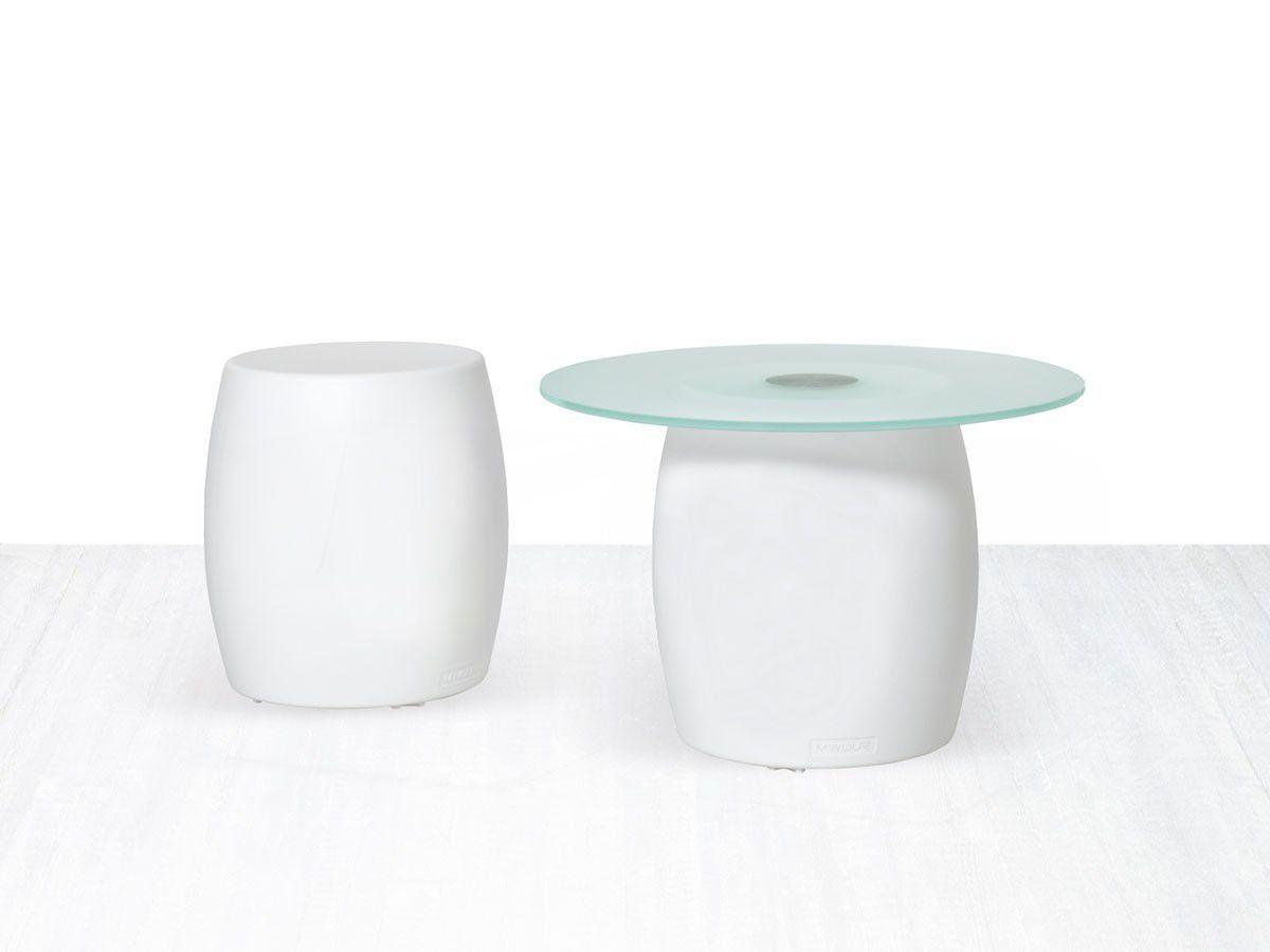 Sgabello moderno in plastica da esterno bianco bart myyour