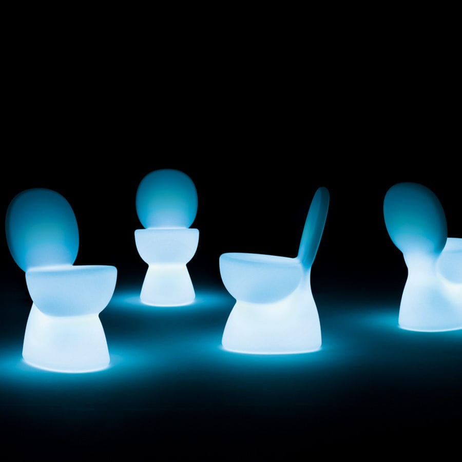 Sedie Per Esterno In Plastica.Sedia Design Originale Luminosa In Plastica Da Esterno