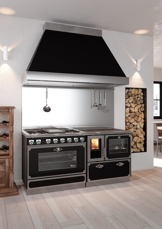 Blocco cucina a gas / elettrico / a legna / con doppia ...
