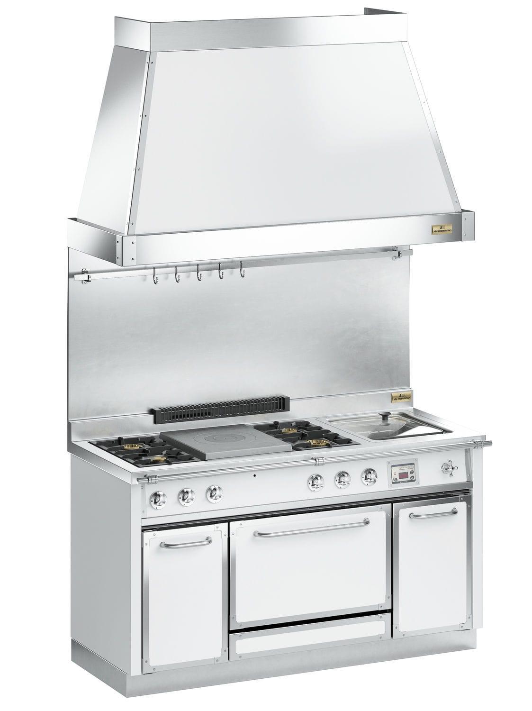 Blocco cucina elettrico / con doppia alimentazione / in acciaio ...