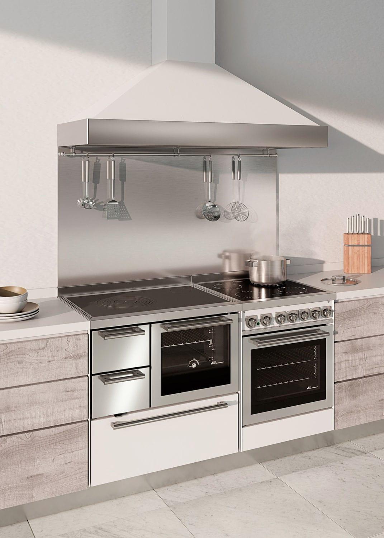 Blocco cucina a gas / con doppia alimentazione / a legna / a incasso ...