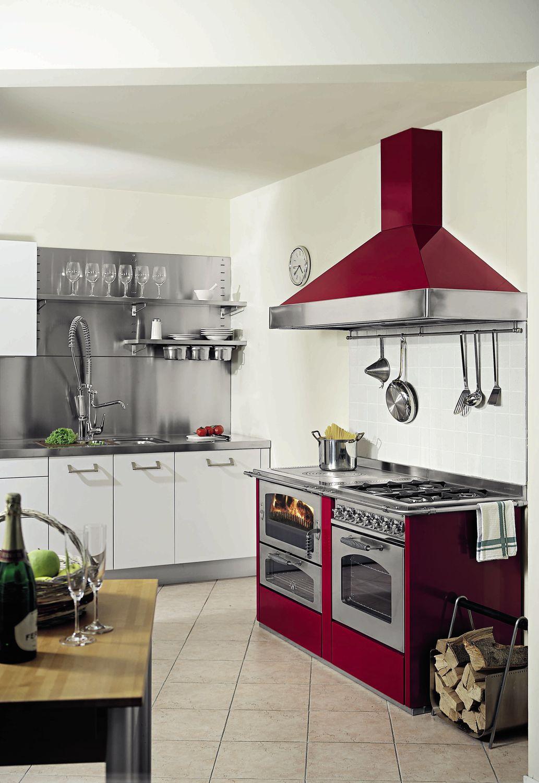 Blocco cucina a gas / elettrico / a legna / con doppia alimentazione ...