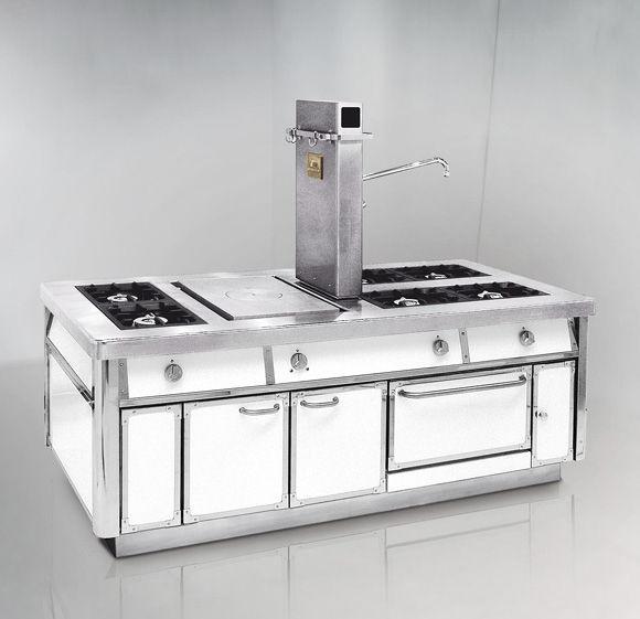 Blocco cucina a gas / professionale / attrezzato - SERIE 120 GAS ...