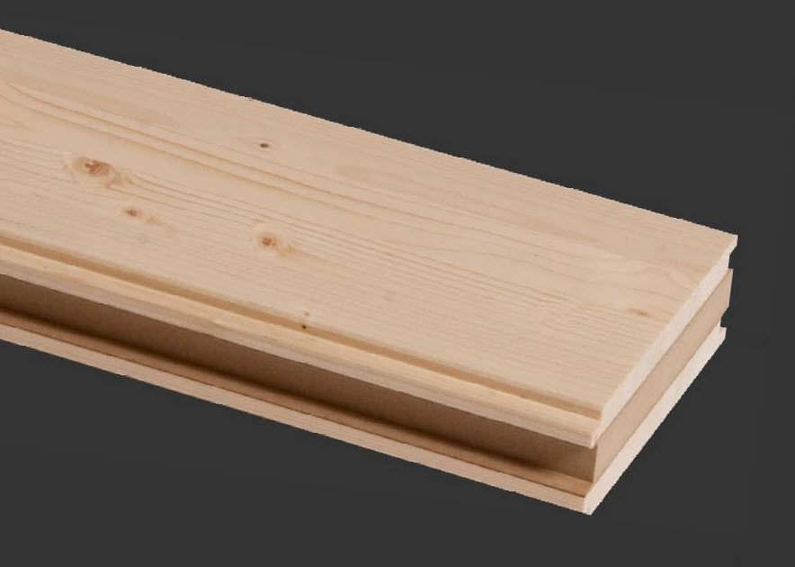 Pannello sandwich per parete / rivestimento in legno / anima in ...