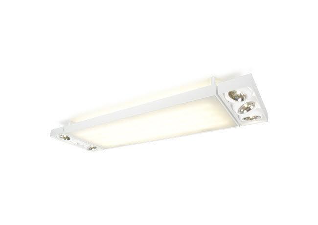 Luce a lampada fluorescente alogena lineare rettangolare
