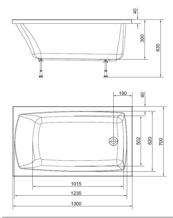 Vasca da bagno da appoggio / in acrilico - LILY - Polysan s.r.o.