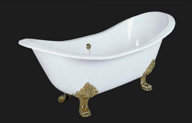 Vasca Da Bagno Piedini : Vasca da bagno su piedi ovale in ghisa antique windsor