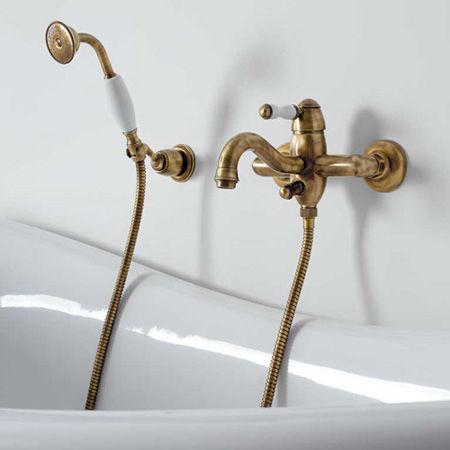 Miscelatore doppio comando per vasca / da parete / in ottone / da ...