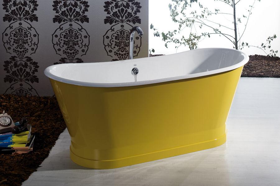 vasca da bagno da appoggio ovale in ghisa antica