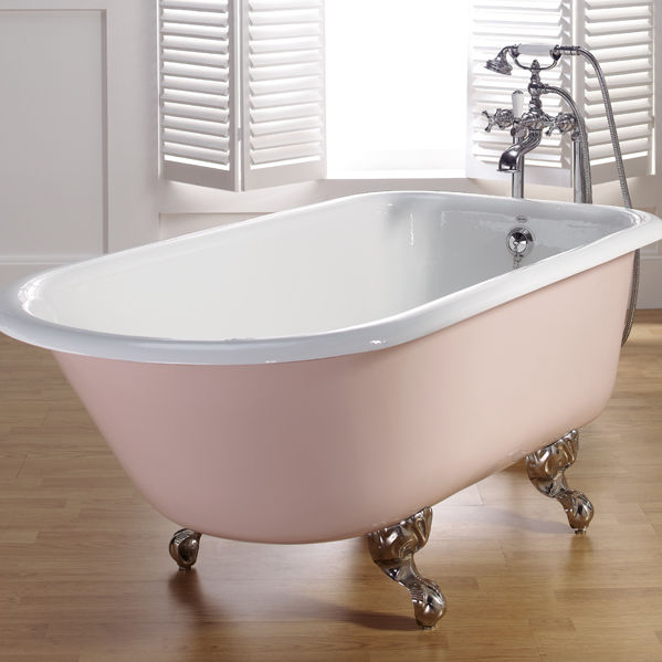 Vasca da bagno su piedistallo / ovale / in ghisa   anis   bleu ...