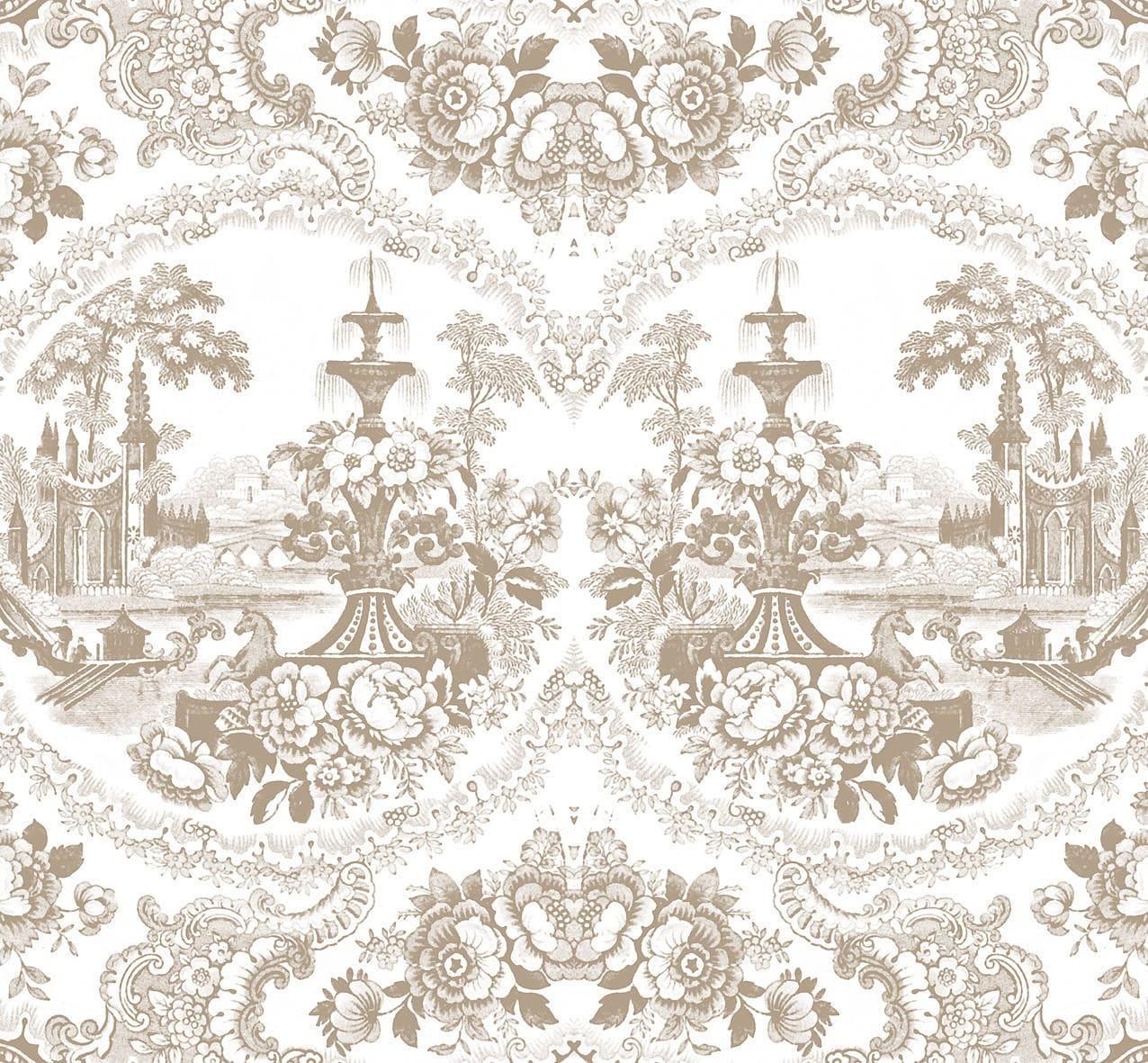 Conosciuto Carte da parati in stile barocco / vintage / in tessuto / in  BI66