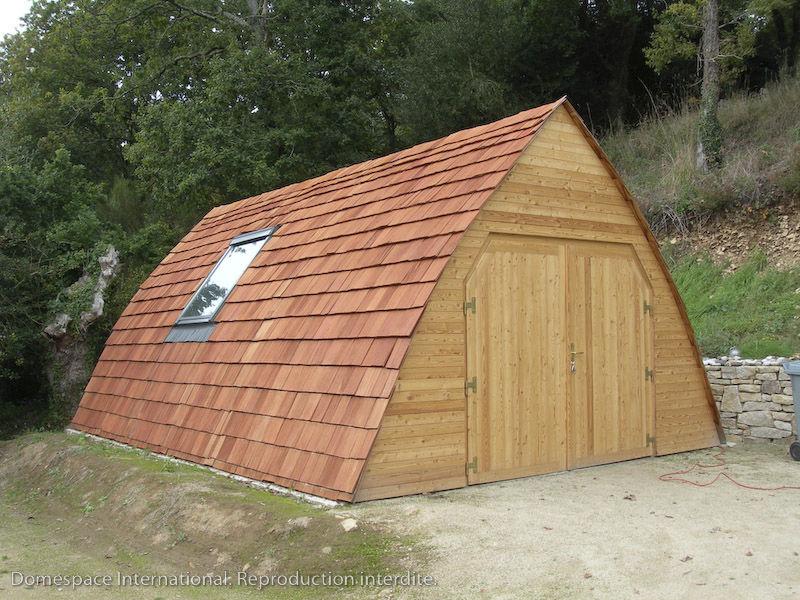 Edificio prefabbricato / per garage / in legno / moderno   ogival ...