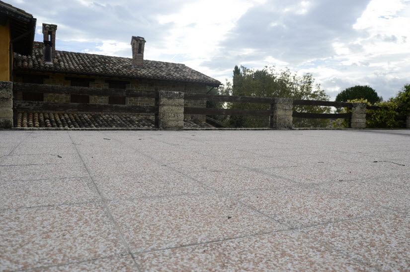 Piastrella da esterno da pavimento in cemento motivo