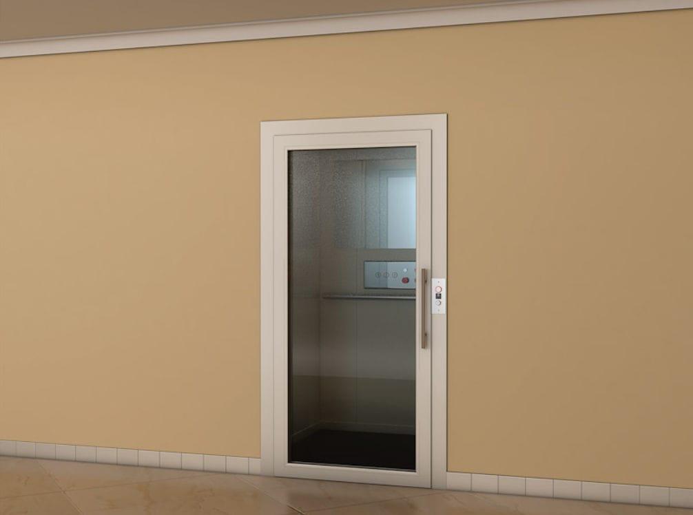 spesso Porta per ascensore in alluminio / battente / con vetro di  YM71