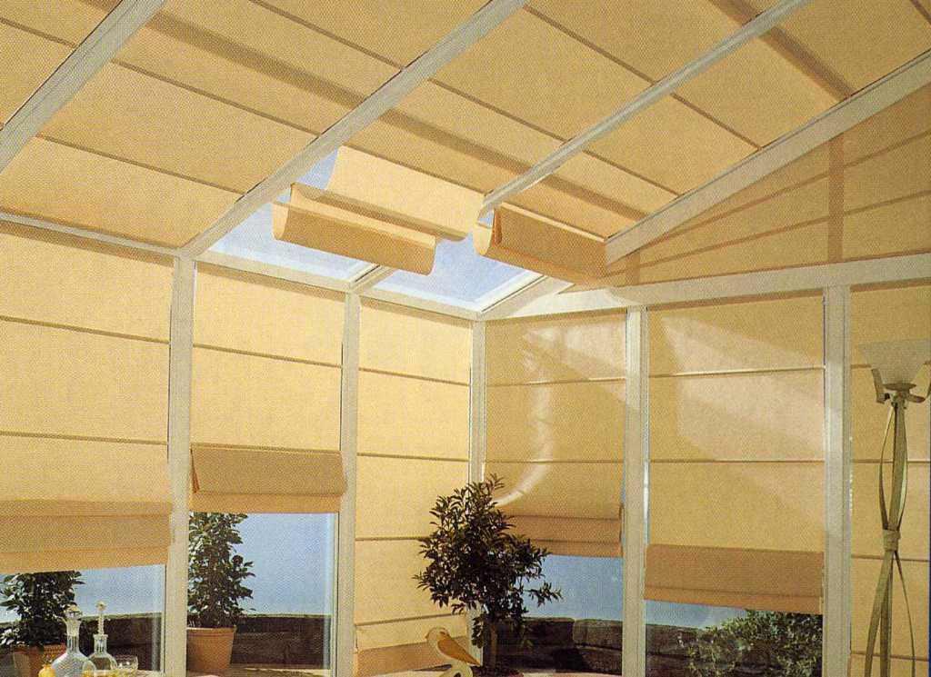 Tenda da sole a pacchetto in tela per veranda contrejour