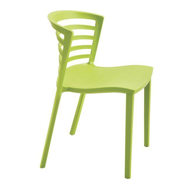 Sedie Per Esterno Plastica.Sedia Visitatore Moderna Impilabile In Plastica Da Esterno