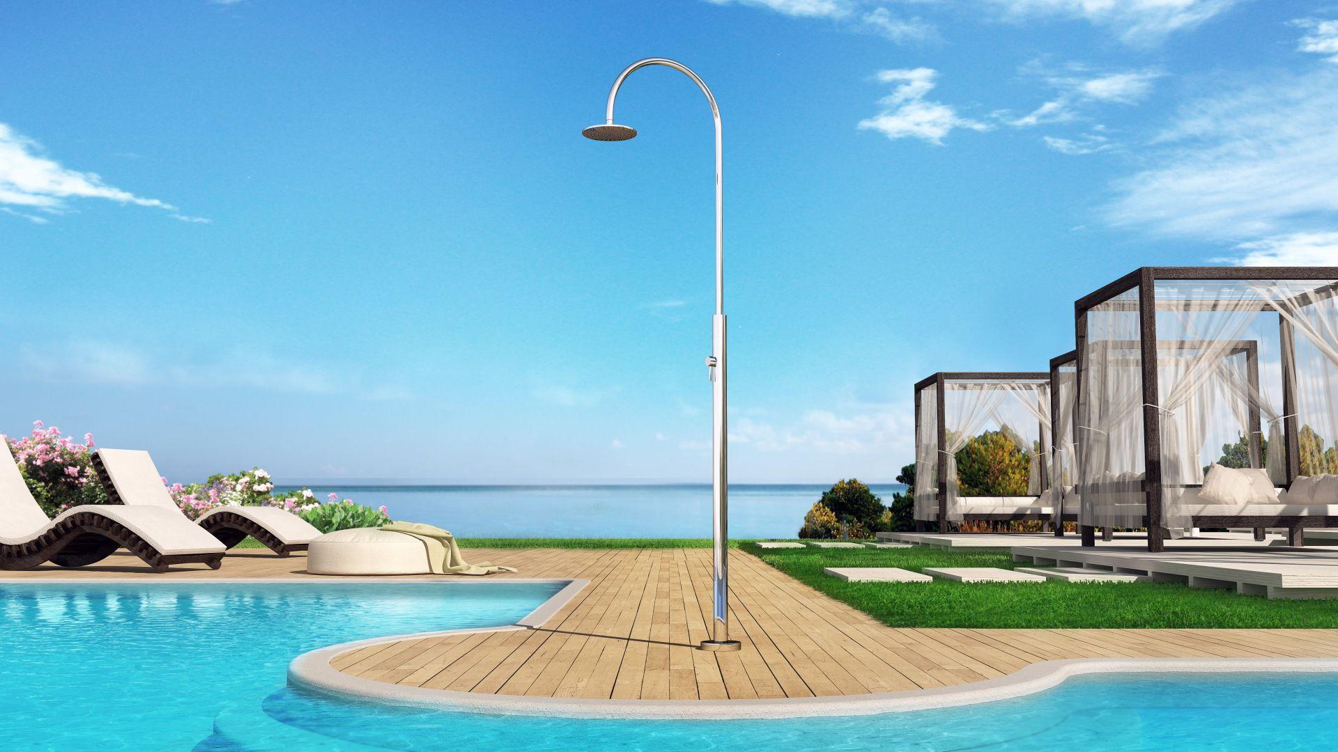 Doccia da esterno per piscina in acciaio inossidabile aria
