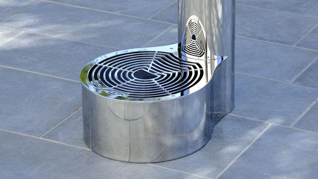 Fontana da giardino / in acciaio inox - NIAGARA A - Inoxstyle - Video