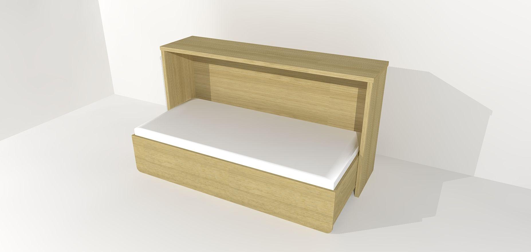 Letto a scomparsa / singolo / moderno / in legno - DIMITRI - CONCEPT ...