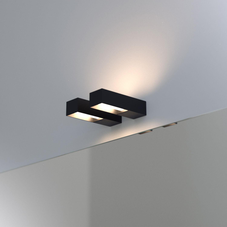 faretto a muro da bagno fluorescente rettangolare lucequadro