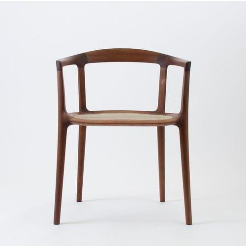 Sedia design scandinavo / con braccioli / in rete / in legno - DC 10 ...