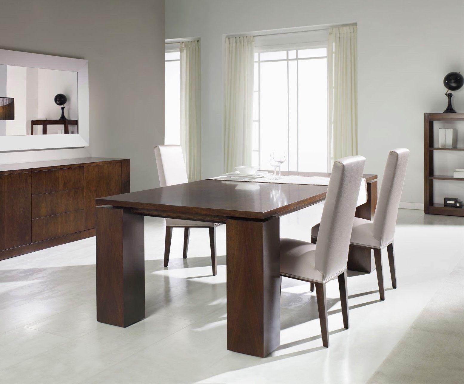 Tavolo da pranzo moderno in noce in faggio rettangolare t