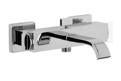 Miscelatore Vasca Da Bagno : Miscelatore per vasca da parete in metallo cromato da bagno