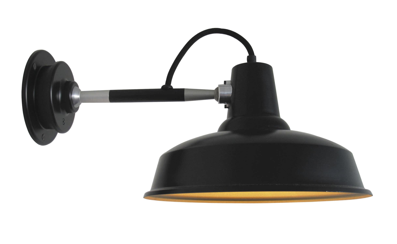 Applique in stile industriale in alluminio led fluorescente