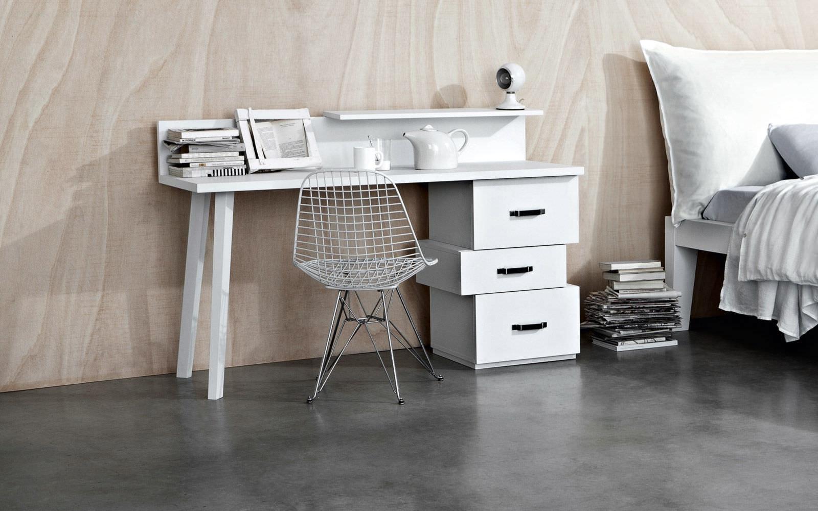 Scrivania In Legno Bianco : Scrivania in legno moderna lc letti co