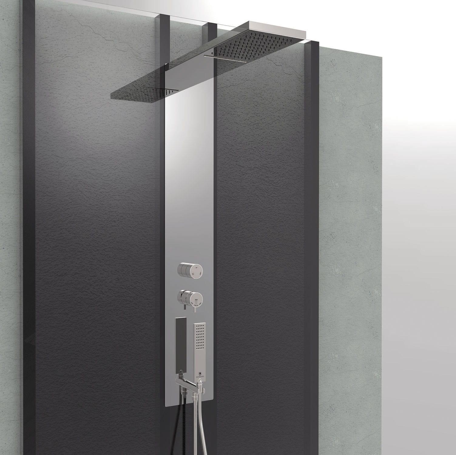 Colonna doccia termostatica con doccia a mano manhattan panel