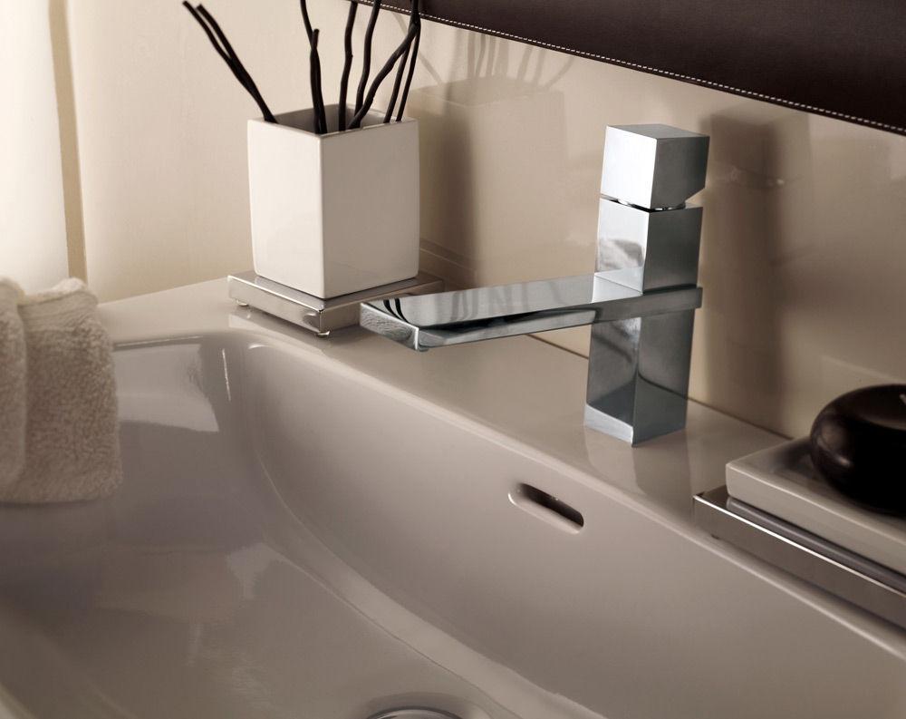 Vasca Da Bagno Qube : Miscelatore per lavabo in metallo cromato in cristallo swarovski