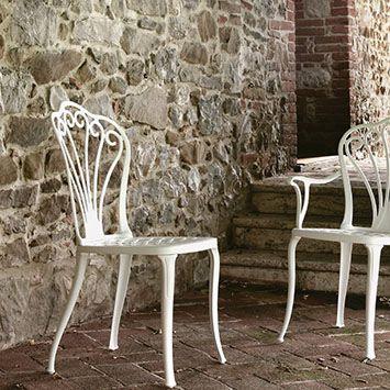 Sedie In Metallo Da Esterno.Sedia Da Giardino Classica In Metallo In Alluminio Armonia 31