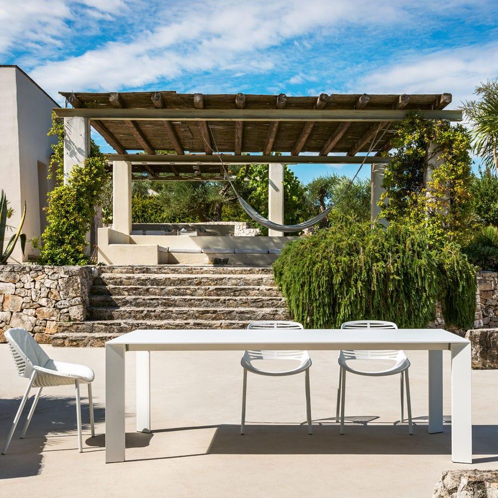 Tavolo moderno / in alluminio / rettangolare / da giardino ...