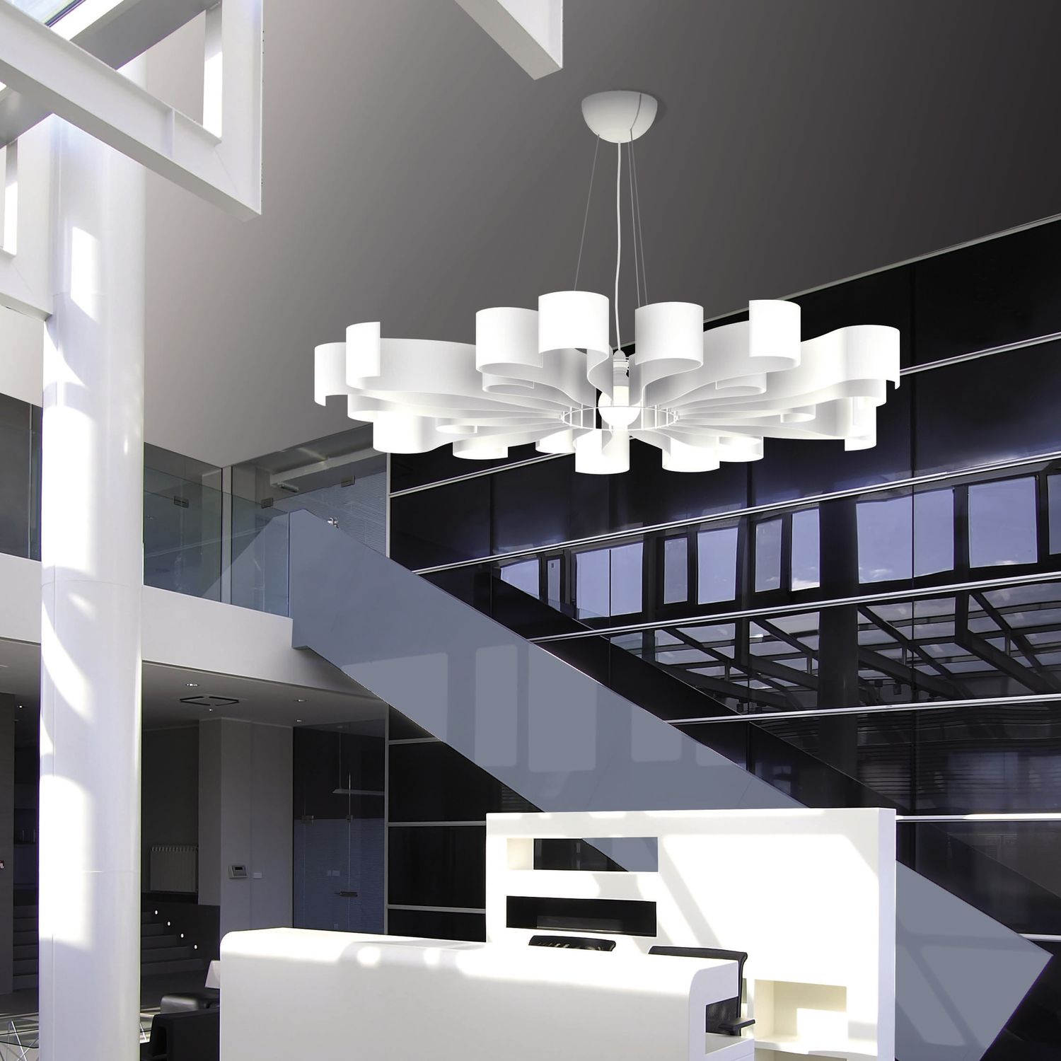 Lampadario moderno / in acciaio / led   soleil   22 22 edition design