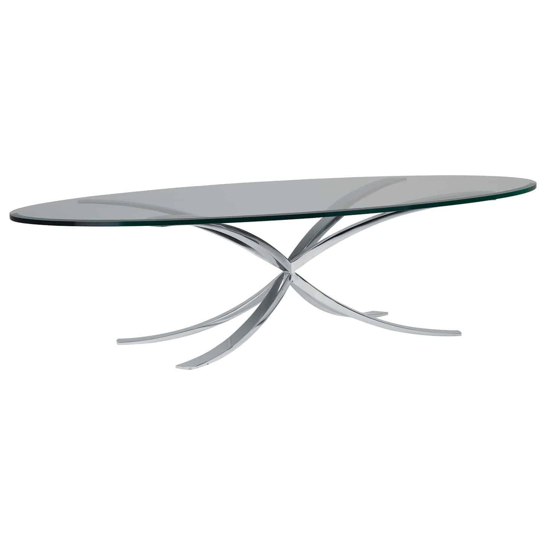 Tavolino basso moderno / in vetro / ovale / da interno - SOFIA ...