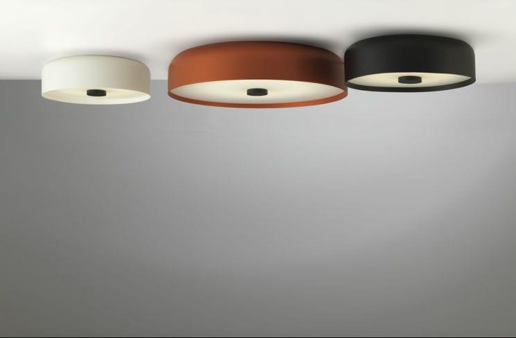 Plafoniera Con Sensore Incorporato : Plafoniera moderna tonda in alluminio acrilico kat by