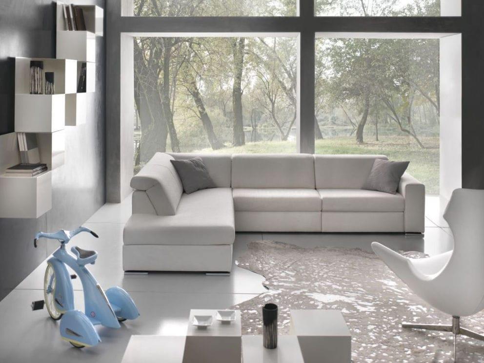 Divano Reclinabile 4 Posti : Divano d angolo moderno in tessuto posti andrea gobbo