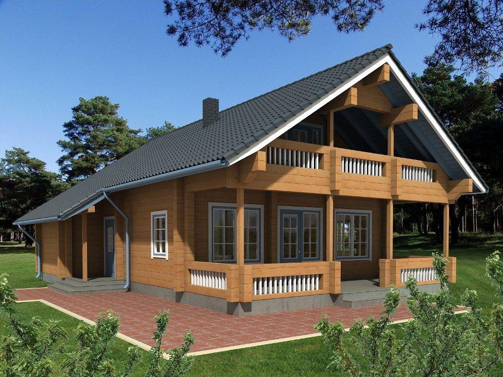 Casa prefabbricata / in legno massiccio assemblato / con struttura ...