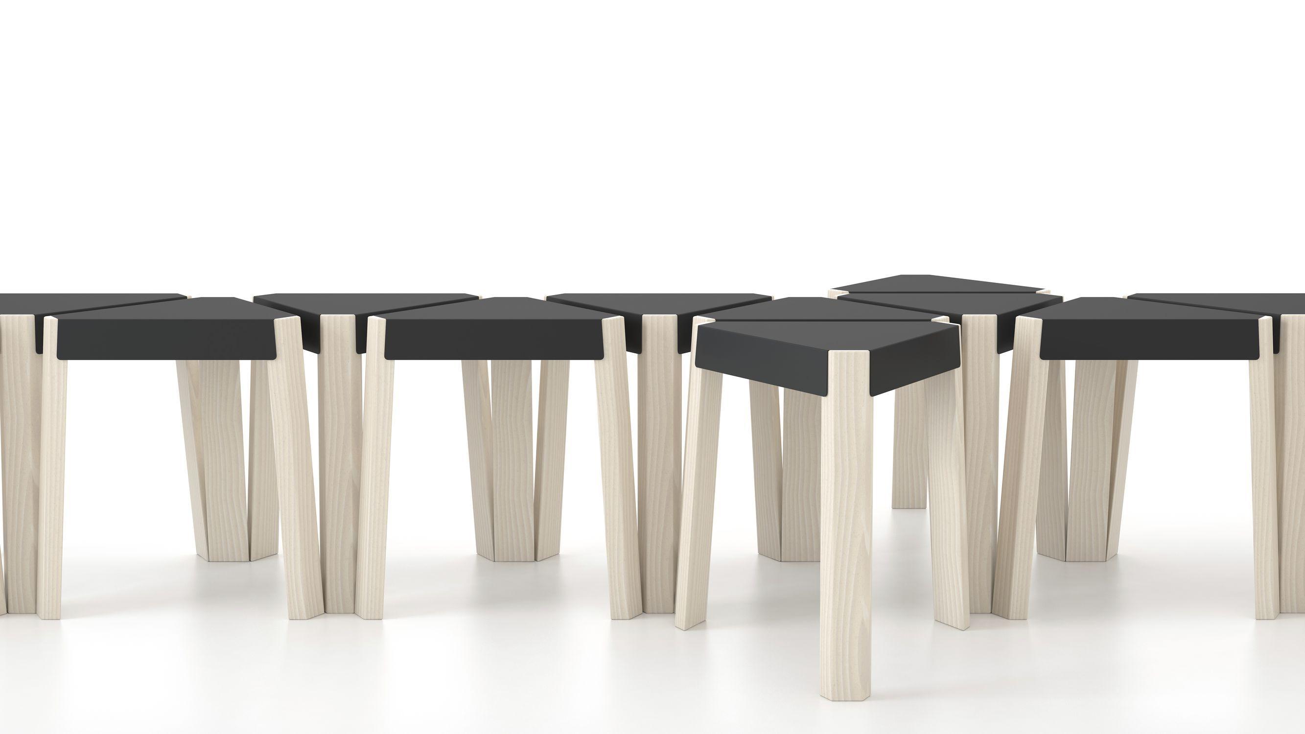 Sgabello moderno in legno bianco podio cancio