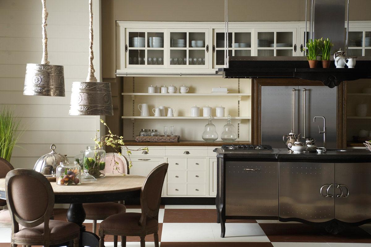 Cucina moderna / in metallo / con impugnature - OPERA MARCHI - COSI