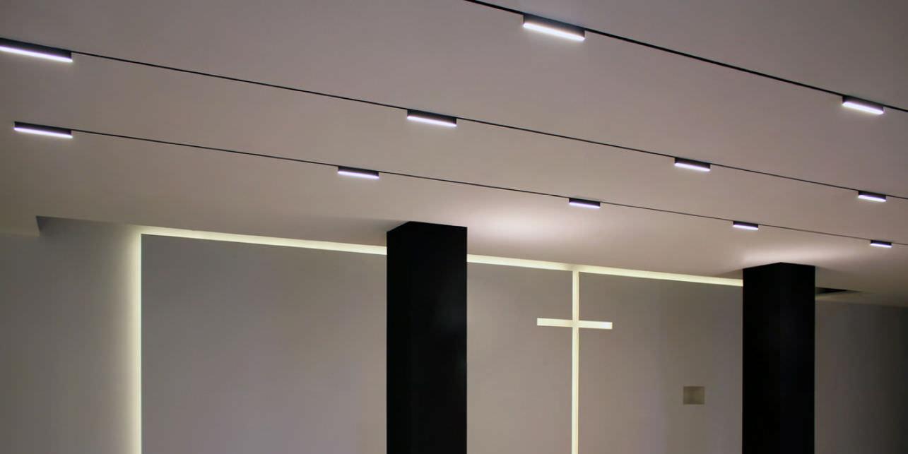 faretti a binario led / lineare / in alluminio / per uso ... - Lampadario Binario Faretti