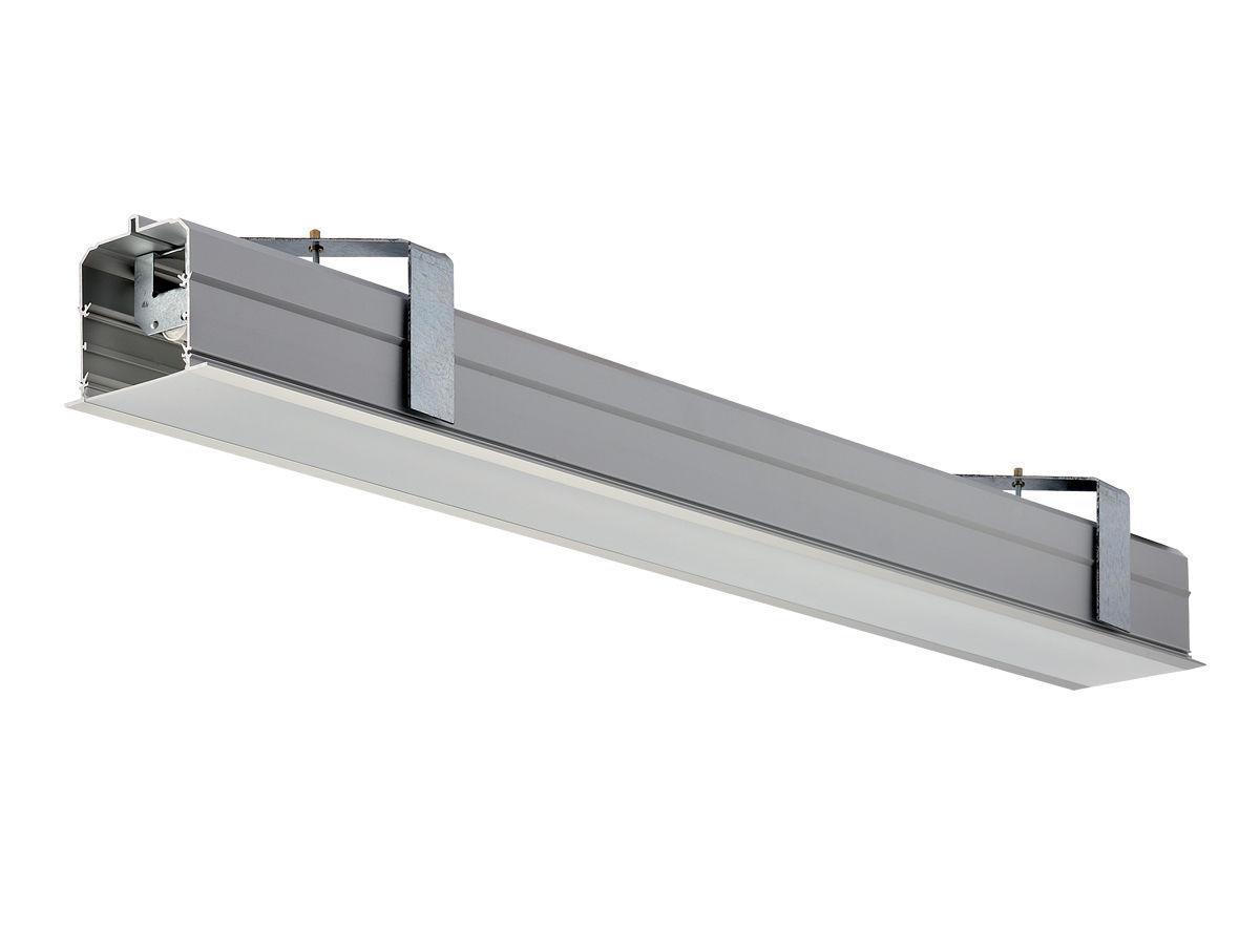 Plafoniere Incasso Led : Profilo luminoso da incasso led lina a h e