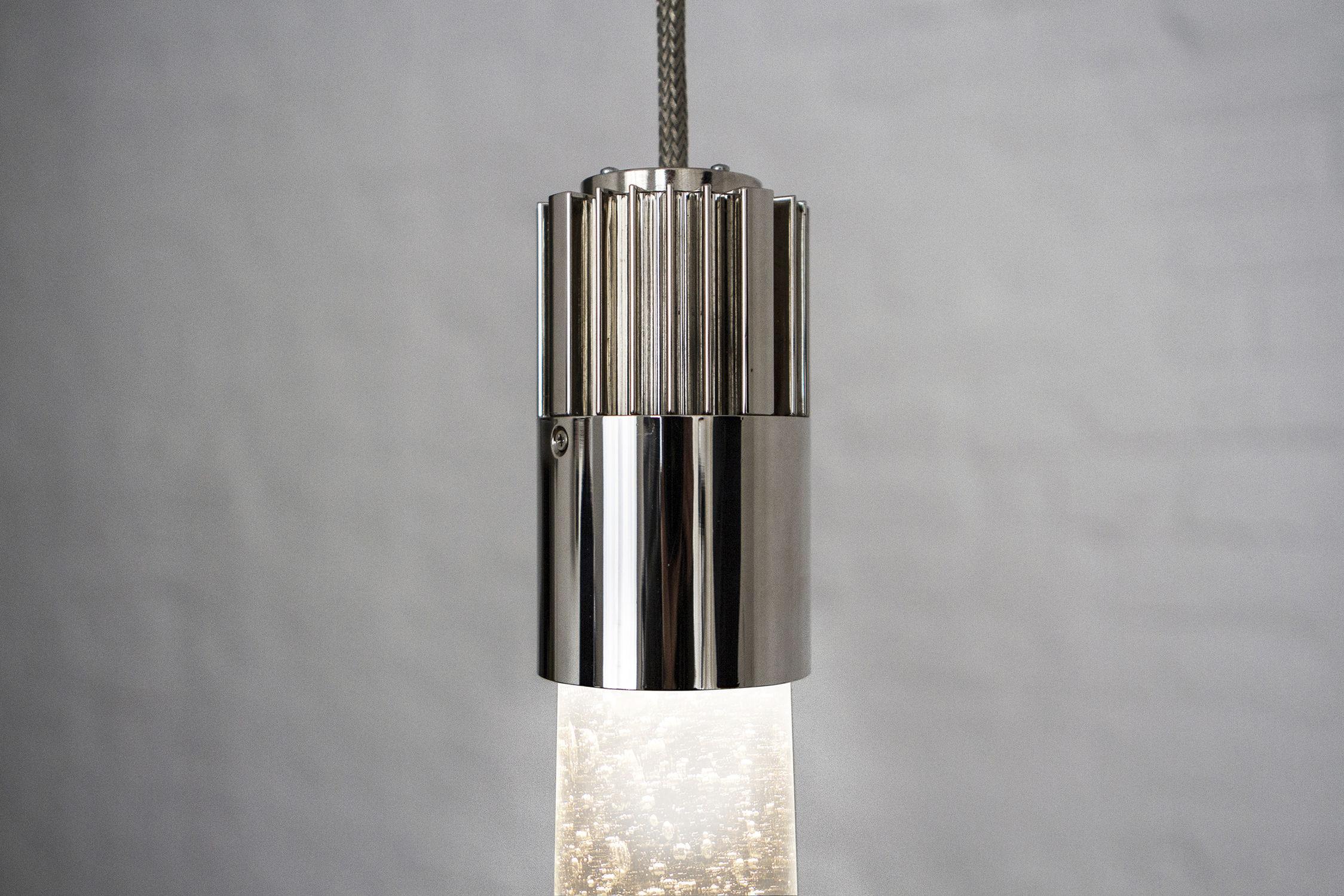 Lampada a sospensione moderna in vetro led grand piston