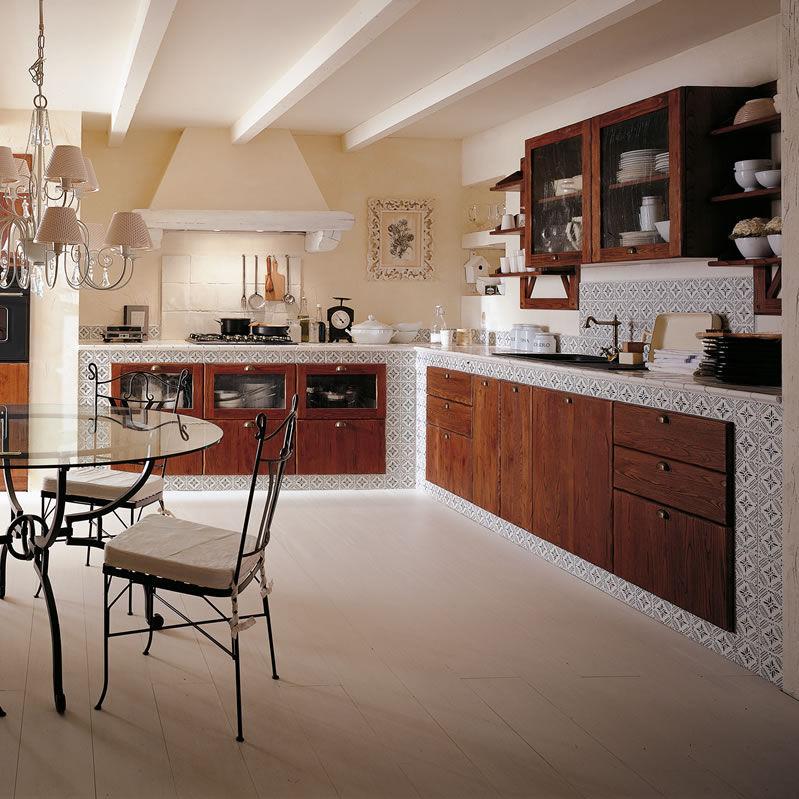 Cucina in stile rustico / in castagno / con impugnature - ROSEMARY ...